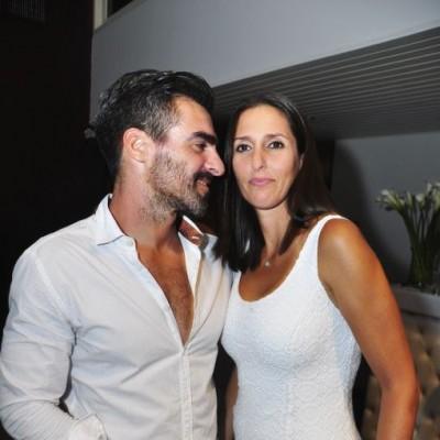 Jaime León y Úrsula Canessa en cumpleaños de Sandra Delgado, Miraflores