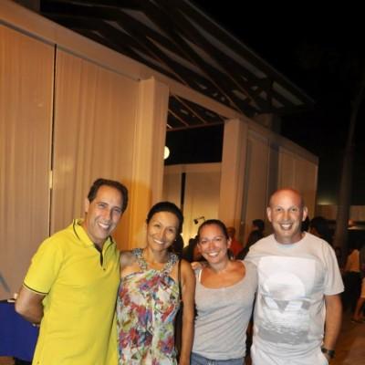 Jorge, Mary, Marisol y Eduardo Cristinis.