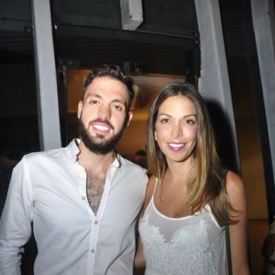 Jorge Feris y Natalia Delgado  en cumpleaños de Sandra Delgado, Miraflores.