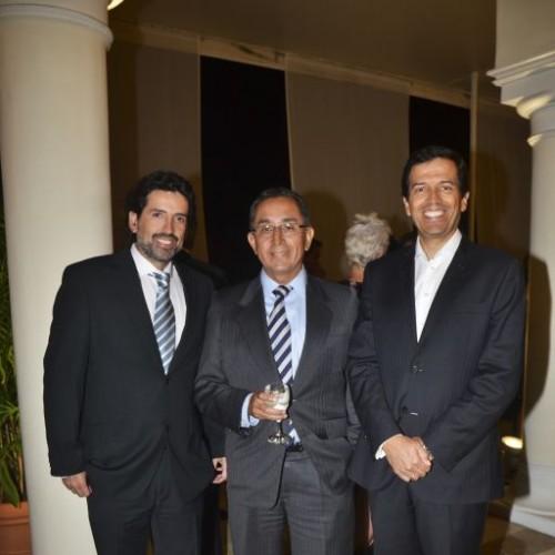 Jorge Zapata, Pablo Delgado y César Pareja.