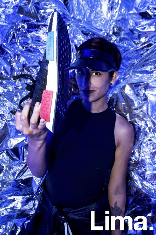 Adriana Seminario en lanzamiento de  adidas NMD, Barranco.