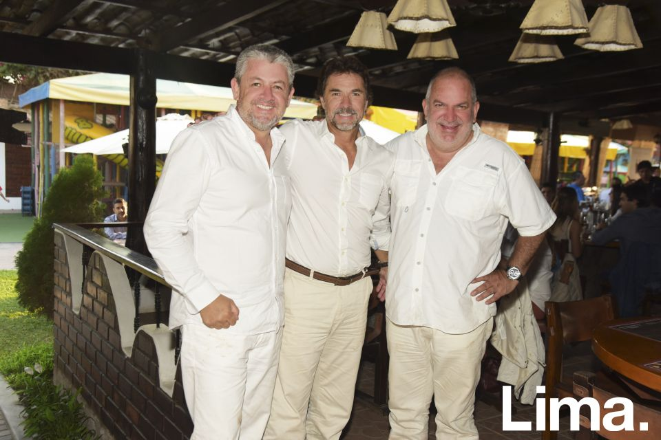 Jose de la Puente, Jorge Stoll y Manuel Valencia