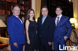 Manuel Cubas (Director), Sandra Cubas (Partner), Simon Wan (Global CEO), Diego Cubas (Managing Partner de Peru)