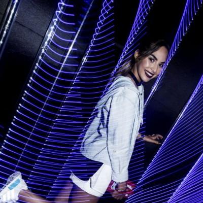 Ximena Moral en lanzamiento de  adidas NMD, Barranco.