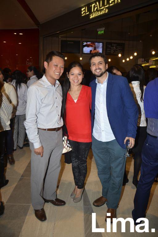 Andy Guin, Paola Wong y Juan Carlos Manning