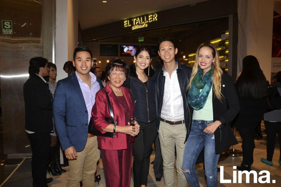 Anson Tou, Angelica Tay, Elimar Fung, Luis Sam y Jessica de Abreu