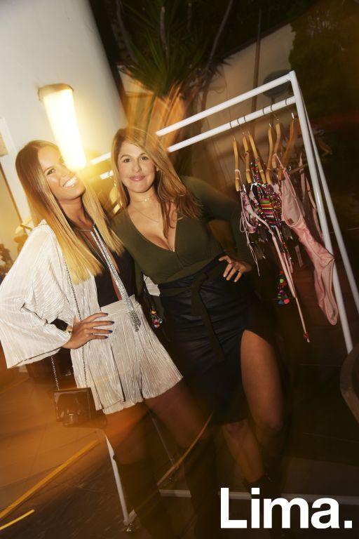 Antonella Legua y Alejandra Boggiano en lanzamiento de Solkissed bikinis, Vernácula-San Isidro.