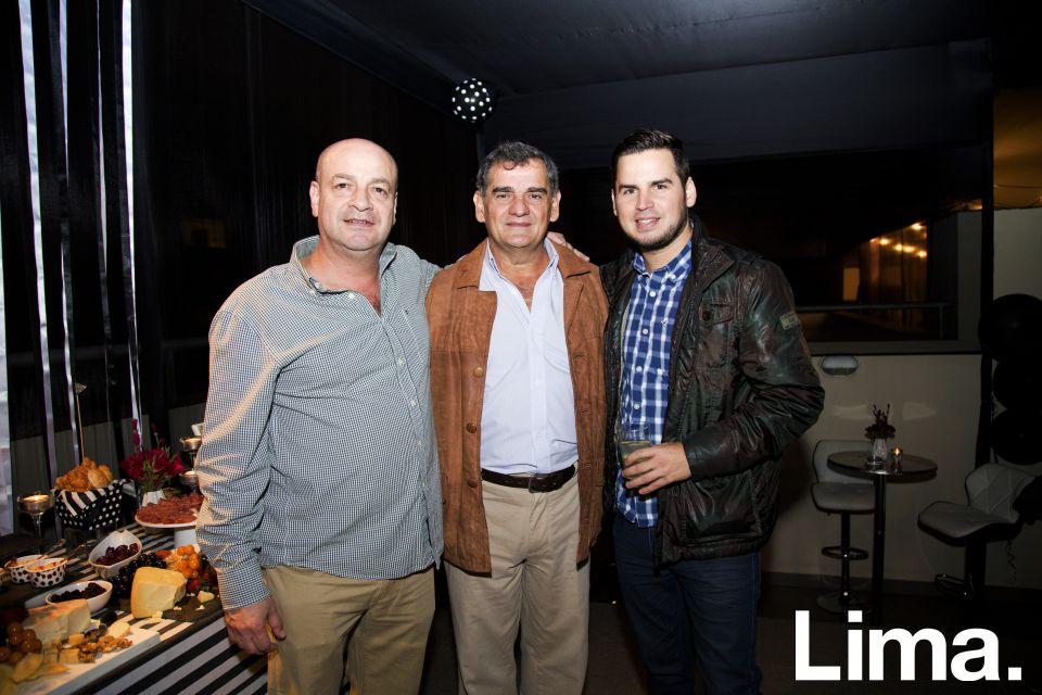 Luis Risco, Jorge Rabines y CCésar Rabines