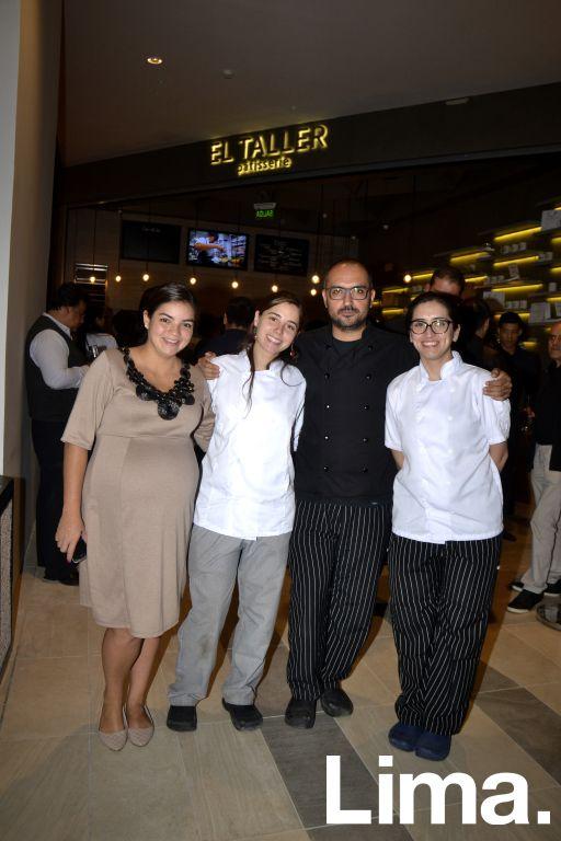 Mariel Puch, Milagros Flores, Raúl Cenzano y Alessandra Ribeyro