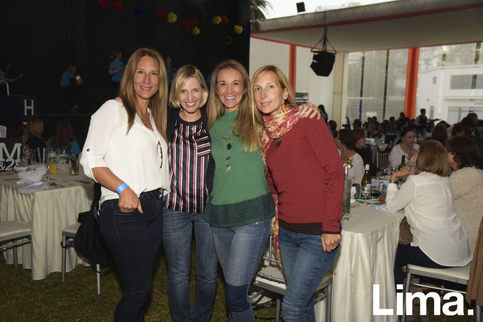 Claudia Cánepa, Cristina Ibarra, Janice Gerber y Virna Pinasco.