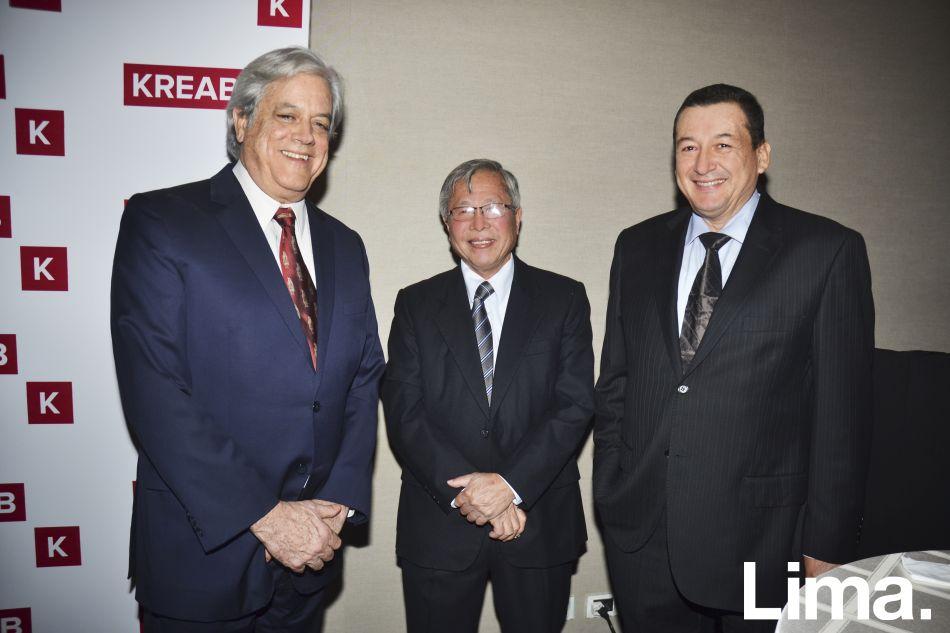 Drago Kisic, Santiago Fujimori y Rolando Reátegui
