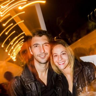 Gianfranco Pelagatti y Pierina Ferreyra  en Bazar, Miraflores.