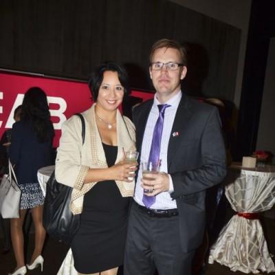 Mónica Iriarte y Klaus Luttjohann