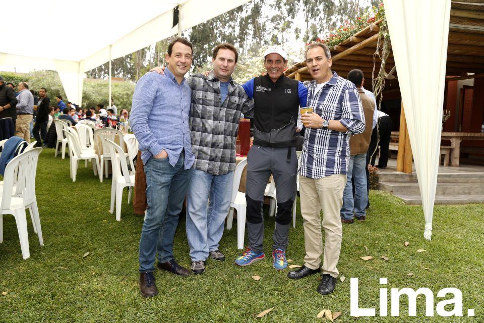 Álvaro de las Casas, Eduardo Harten, Michael Scogings y Fernando Miranda.