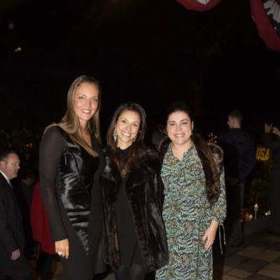 Adriana de Balli, Sabrina de Borda y Camila Rosingana.