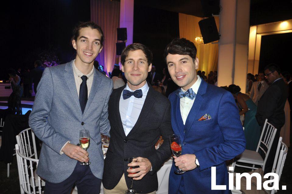 Adriano Canella, Federico Wiese y Bruno Pinasco.