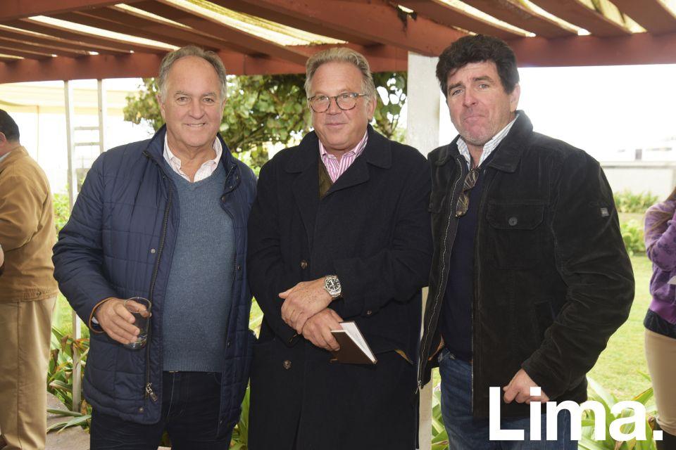 Alberto Gubbins, Frank Tweddle y Alfredo Gulman.