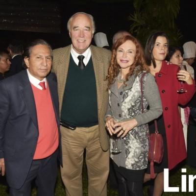 Alejandro Todelo, Victor Andrés García Belaunde y Eliane Karp.