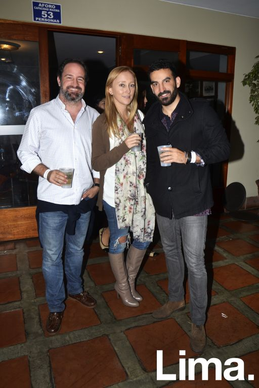 Alvaro Mendoza, Sara Sztrancman y Felipe Carbajal.