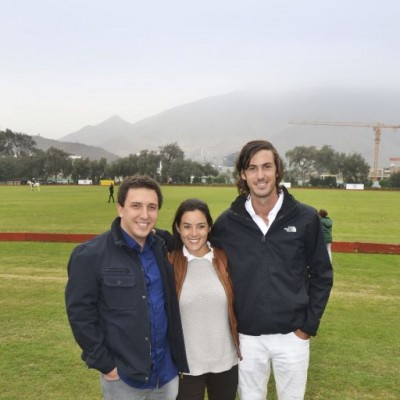 Andrés Marsano, Micaella Rubini y Mateo Cilloniz.