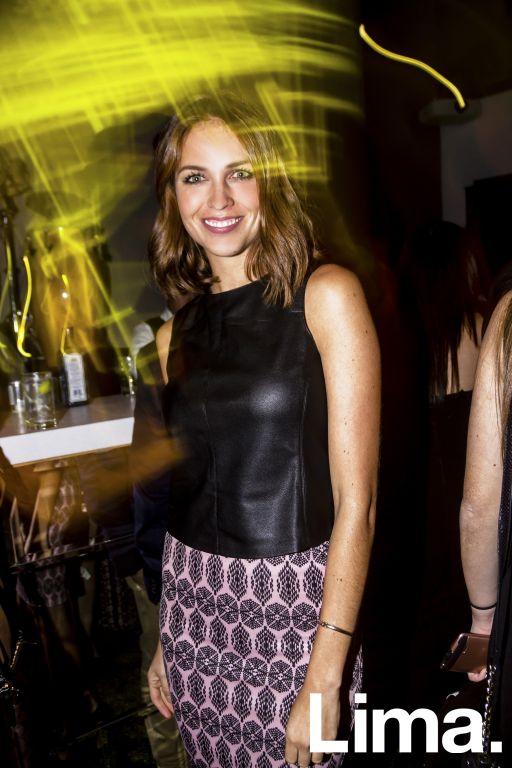 Andrea Hidalgo en cóctel HP Reinvent Obsession, Galería Enlace.