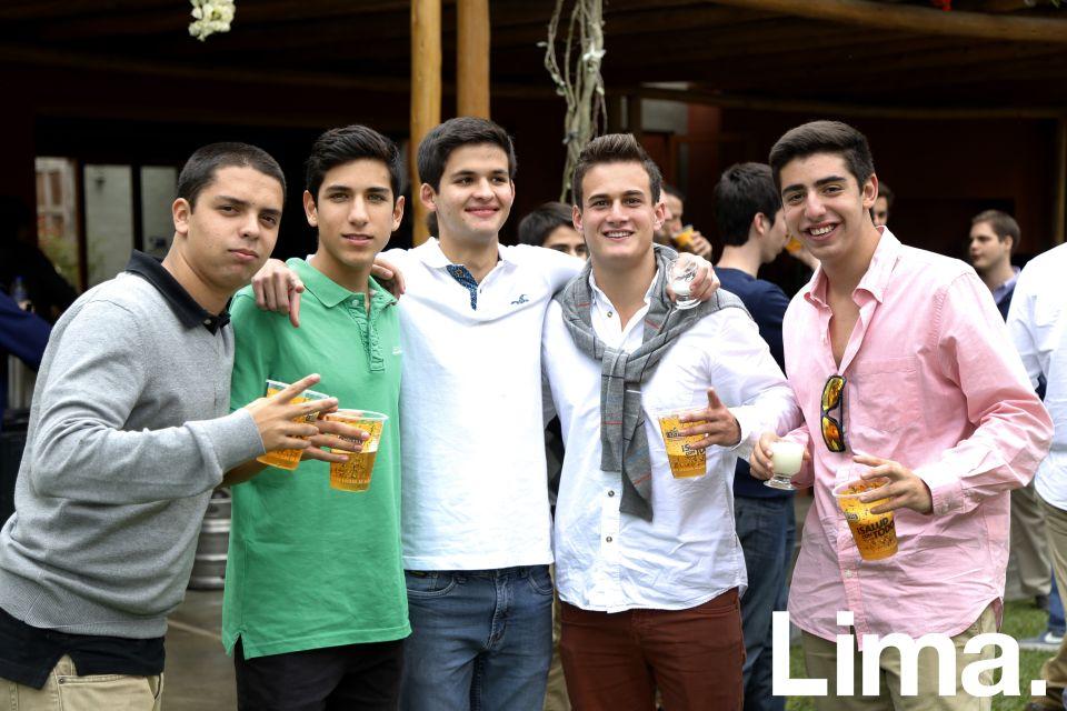 Cristóbal Echeandía, Juan Diego Miranda, Santiago de los Heros, Sebastián Martínez y Joshua Berckholtz.