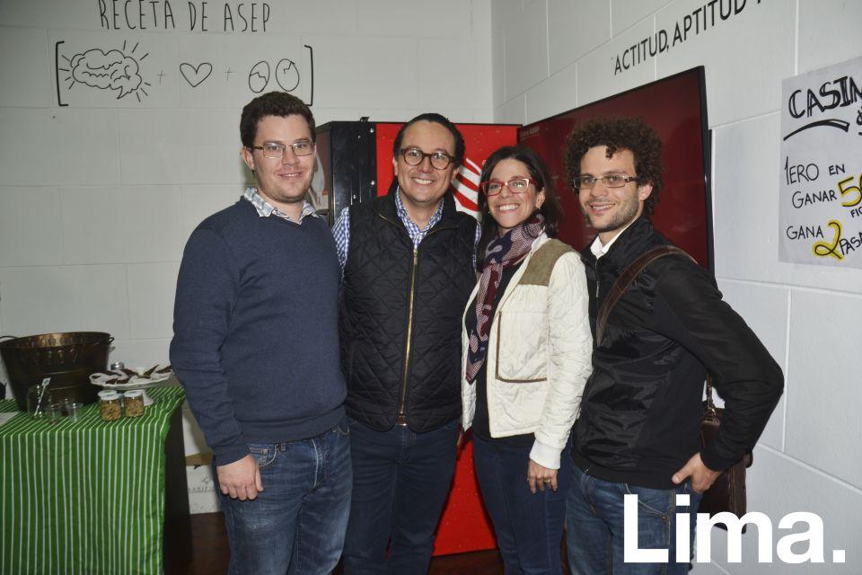 Daniel Griswold, Alex Gomez, Ana María Martínez y Daniel Block.
