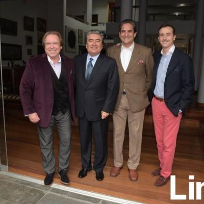 Diego Uceda, Rolando Sousa, Eduardo Montenegro y Sebastián Erraiz.