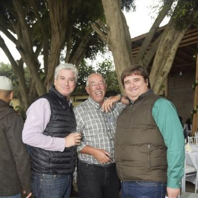 Eduardo Galleno, Guillermo Letts y Roberto Sparks.