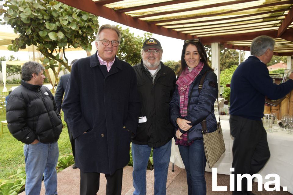 Frank Tweddle, Aron Werthermer y Fiorella Perazzo.