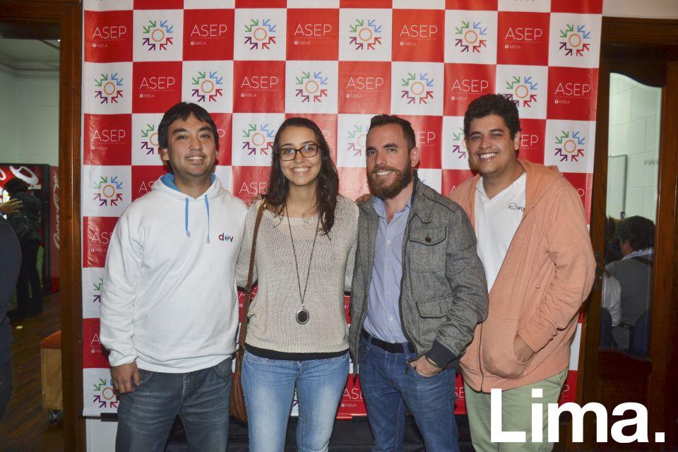 Lenon Shimokawa, Mariana Costa, Daniel Puga y Henry Niño.
