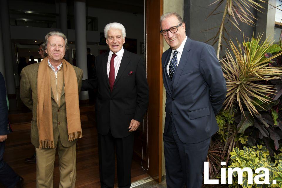 Luis Llosa, Felipe Llona y Felipe Oneto.