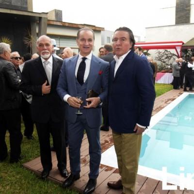 Luis Miguel Arbulú,  Antonino Damma, y Otto Cedrón.