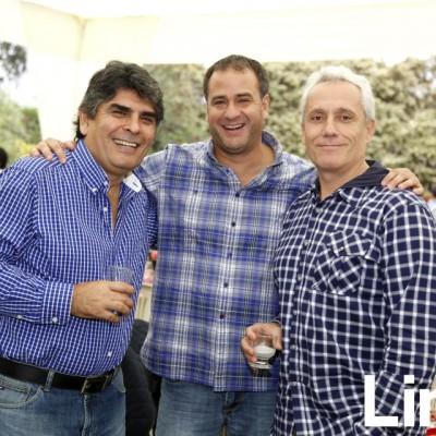 Neiro Pereyra, Orlando Zevallos y Pablo De la Torre.