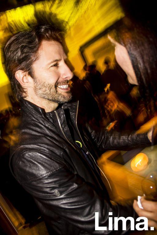 Marco Zunino en cóctel HP Reinvent Obsession, Galería Enlace.