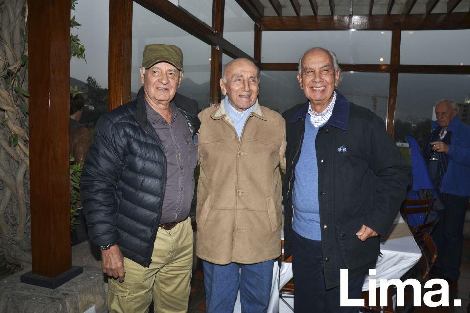Max Peña, Samuel Dávila y José Peña.