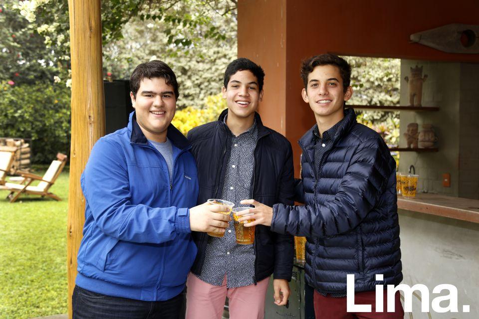 Sebastián Fajardo, Gabriel Román y Rodrigo Rebagliati.