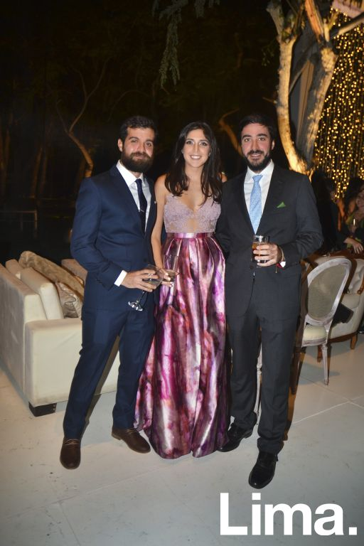 Stefano Defilippi, Lorena Palacios y Alonso Bacigalupo.