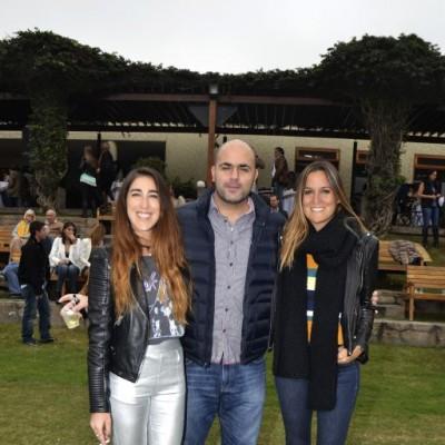 Yahel Waisman, Marco Sabal y Talía Revoredo.