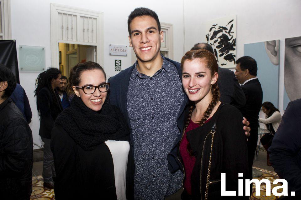 Andrea Suáres, Juan Pablo Reyes y Christel Zoeger.