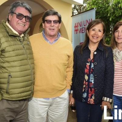Carlos Villacorta, Rafael Rey, Jenny Villafuerte y Tita Villacorta.