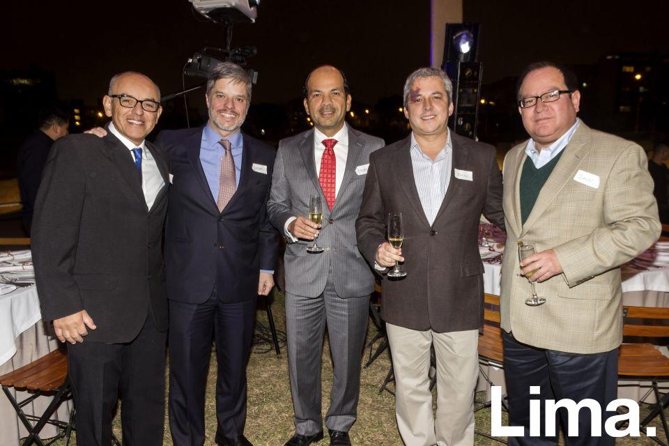 Claudio Harmann, Bartolome Ríos, Gerardo Gery, Alberto Arregui y Andrés Oblitas.