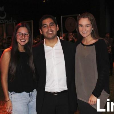 Cristina Lozada, Luis Berrospi y Andrea Fabri.