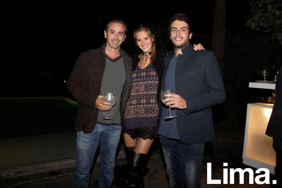Diego León de Peralta, Anis Samanez y Stefan Kahhatt.