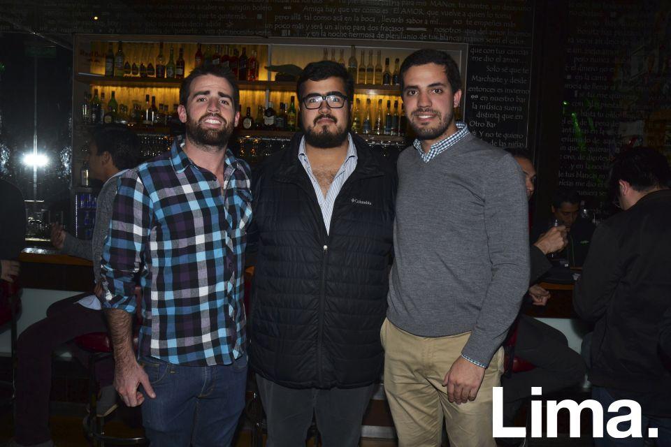 Elías Umbert, Rafael Navarro y Santiago Pinto.