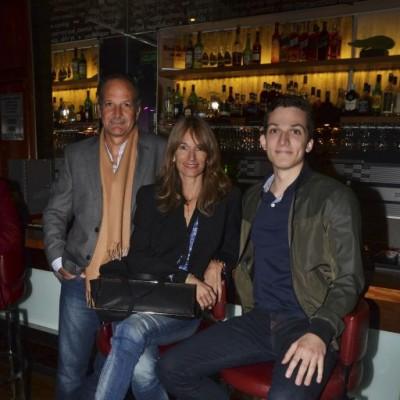 Ernesto Arrarte, Paola Demegri y Ettore Fiorani.