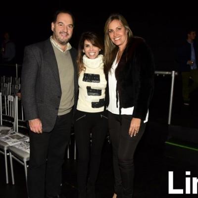 Fernando Vega, Mariana Mandayo y Marisol Vega.