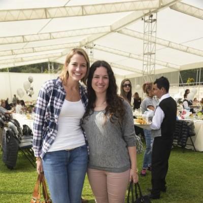 Fiorella Iriarte y Camila Ferreyra.