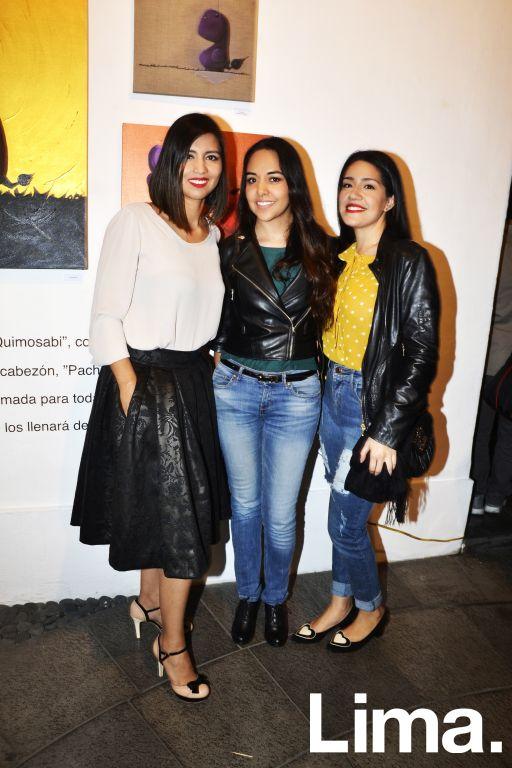 Ingrith Castillo, Johanna Cuadros y Silvana Vargas.