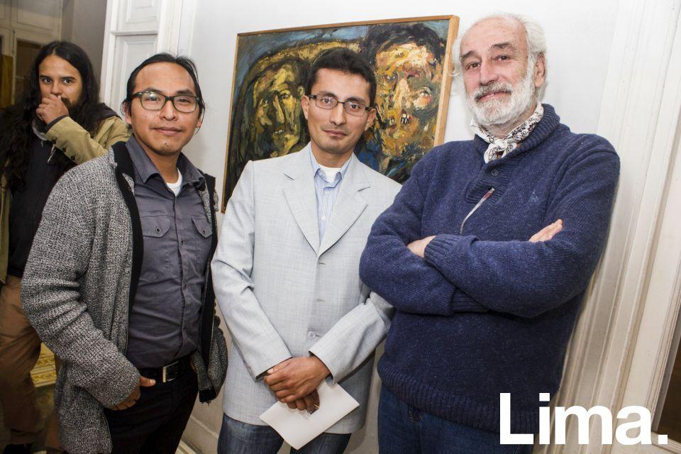 Jimmy Cristobal, Gustavo Montenegro y Roberto Cores.